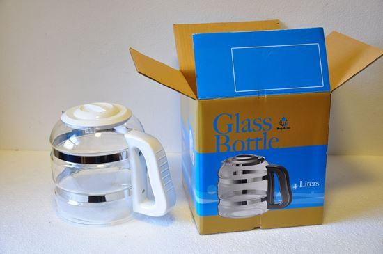 Picture of Biela sklenená nádoba + náhradný nos biely so sklom